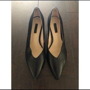 Topshop Black Kitten Heel Pumps